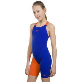 speedo Fastskin Endurance+ Openback Badpak Kinderen oranje/blauw
